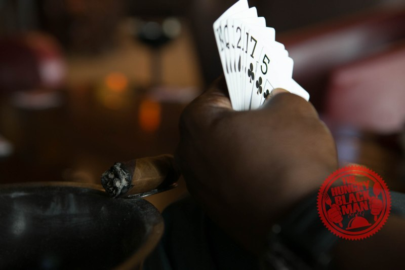 Cigar Lounge Spades Cards