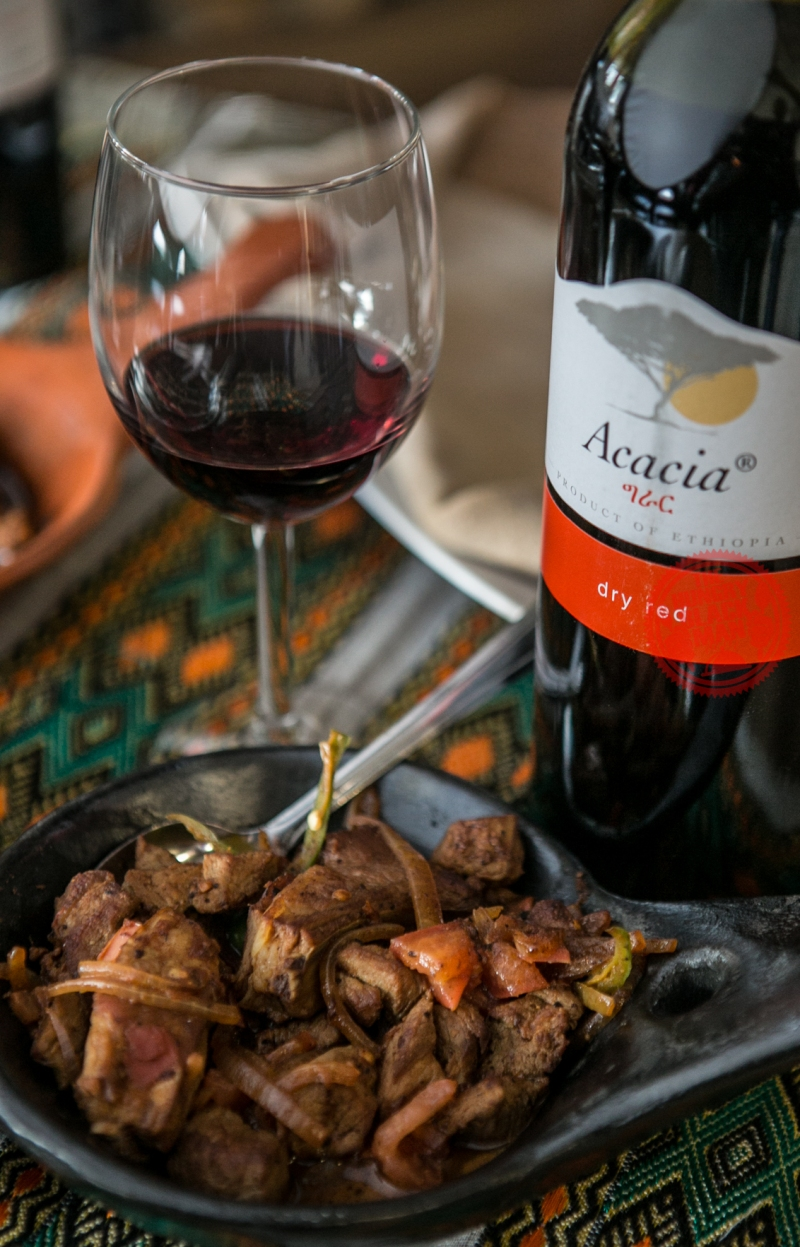 Ethiopian Wine and beef