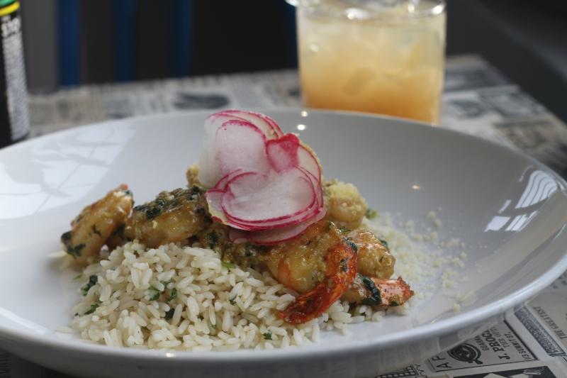 Curry Shrimp and Cilantro Rice River Bistro